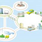 NTT/危機管理産業展用パネルイラスト/スマートグリッド/ICT 広告  NTT/危機管理産業展用パネルイラスト/スマートグリッド/ICT