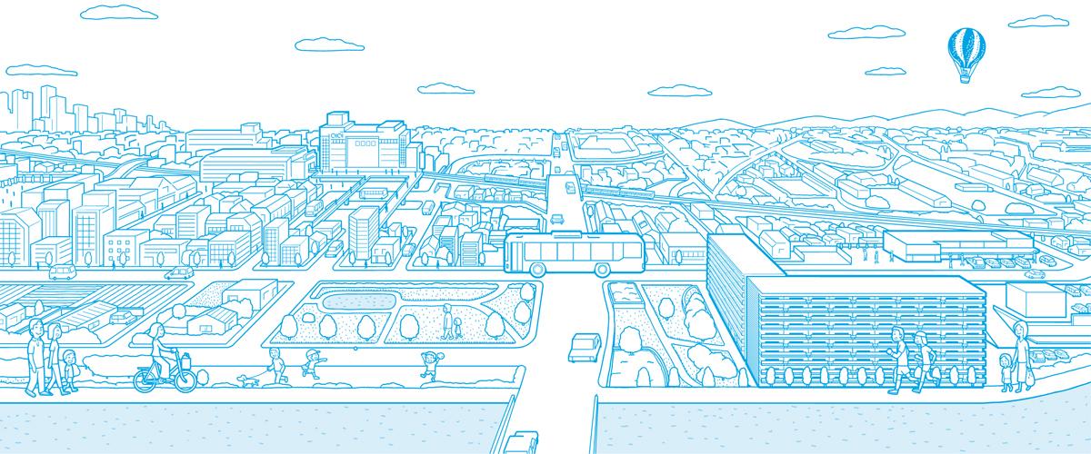 マンション・志木の杜テラス Webサイト イラスト