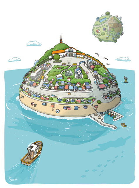 small planet (Oiso) オリジナルイラスト  small planet (Oiso)